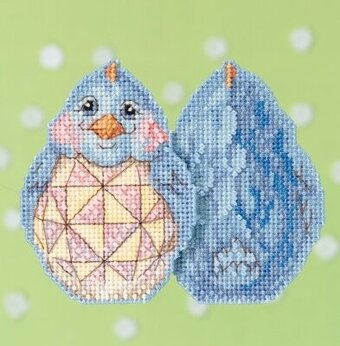 Blue Chick - Jim Shore - Cross Stitch Kit