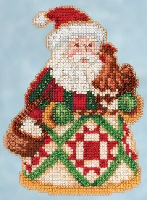 Early Morning Santa - Jim Shore Beaded Cross Stitch Kit