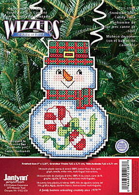 Snowman with Candy Cane - Holiday Wizzers - Cross Stitch Kit