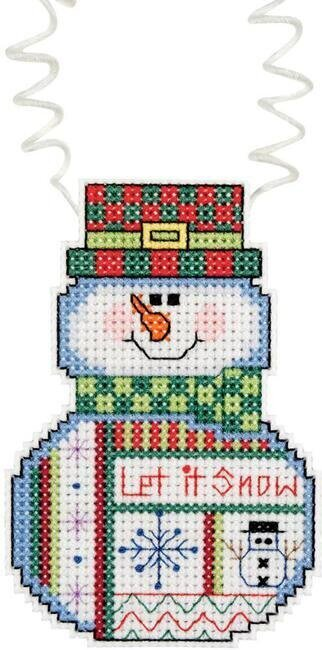 Holiday Wizzers Snowman Let It Snow - Cross Stitch Kit