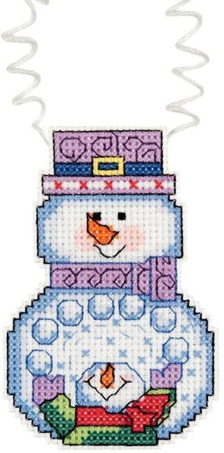 Holiday Wizzers Snowman With Snowballs - Cross Stitch Kit