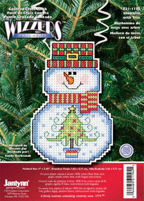 Snowman With Tree - Holiday Wizzers - Cross Stitch Kit