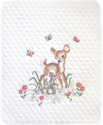 Baby Deer Crib Quilt - Stamped Cross Stitch Kit