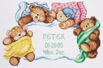 Janlynn Wood Pallet Baby Birth Announcement Cross Stitch Kit 021 – Birth Announcement Cross Stitch