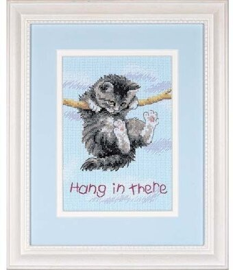 Dimensions Hang On Kitty Cross Stitch Kit 16734