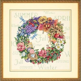 Wreath For All Seasons - Cross Stitch Kit