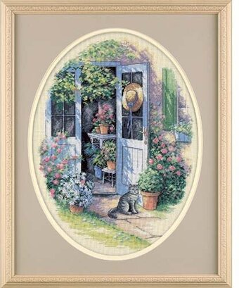Garden Door Cross Stitch Kit