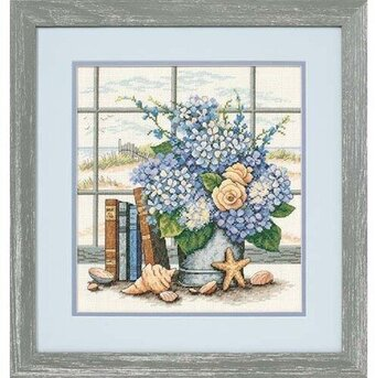 Hydrangeas & Shells - Cross Stitch Kit