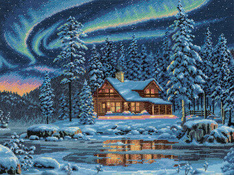 Aurora Cabin - Cross Stitch Kit