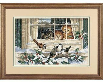 Three Bird Watchers - Cross Stitch Kit