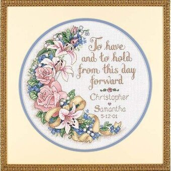 To Have and To Hold Wedding Record - Cross Stitch Kit