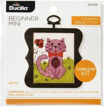 Bucilla Counted Cross Stitch - Beginner - Kitty
