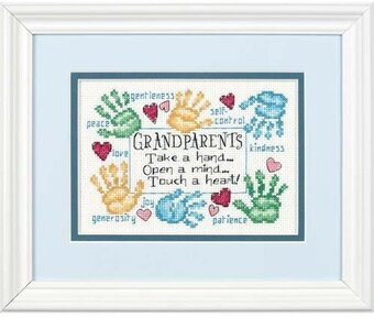 Grandparents Touch a Heart - Cross Stitch Kit