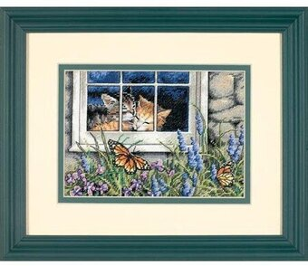 Feline Love - Cross Stitch Kit