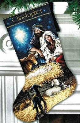 Holy Night Stocking - Cross Stitch Kit