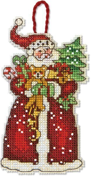 Santa Christmas Ornament - Cross Stitch Kit