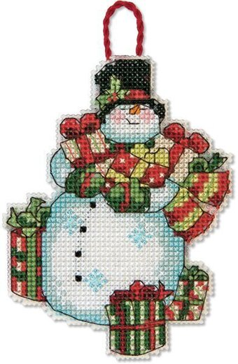 Snowman Christmas Ornament - Cross Stitch Kit