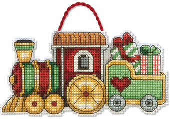 Train Christmas Ornament - Cross Stitch Kit