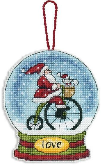 Love Snowglobe (Christmas Ornament) - Cross Stitch Kit
