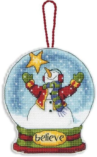 Believe Snowglobe (Christmas Ornament) - Cross Stitch Kit