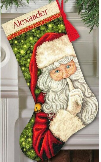 Secret Santa Christmas Stocking - Cross Stitch Kit