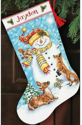 Winter Friends Christmas Stocking - Cross Stitch Kit