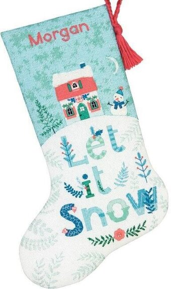 Holiday Home Christmas Stocking - Cross Stitch Kit