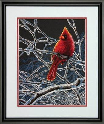 Ice Cardinal - Cross Stitch Kit
