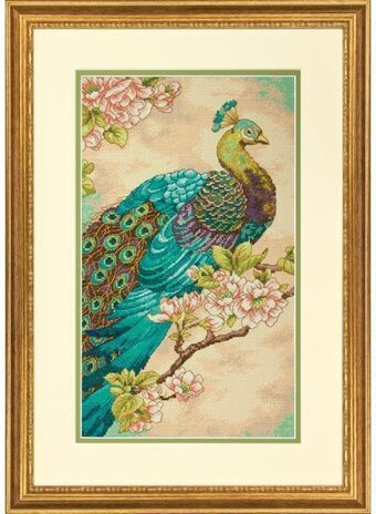 Indian Peacock - Cross Stitch Kit