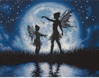 Twilight Silhouette (Fairies) - Cross Stitch Kit