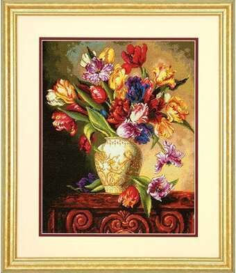 Parrot Tulips - Cross Stitch Kit