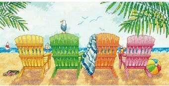 Beach Chairs - Cross Stitch Kit