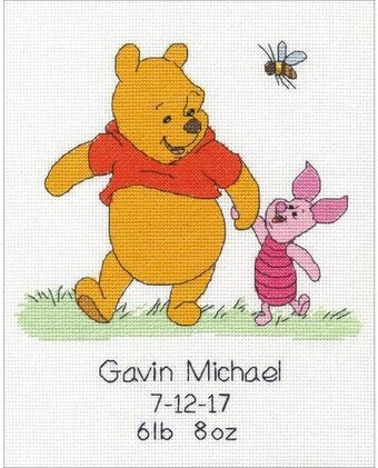 Winnie the Pooh Birth Record - Disney Cross Stitch Kit