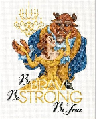 Be Brave Beauty and the Beast - Disney Cross Stitch Kit