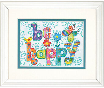 Be Happy - Stamped Cross Stitch Kit