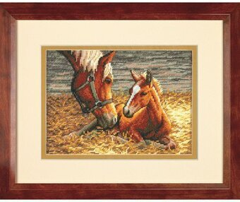 Good Morning (Horse and Foal) - Cross Stitch Kit