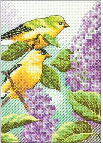 Goldfinch And Lilacs - Cross Stitch Kit