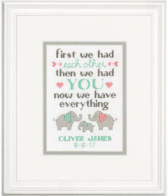Family Birth Record - Cross Stitch Kit