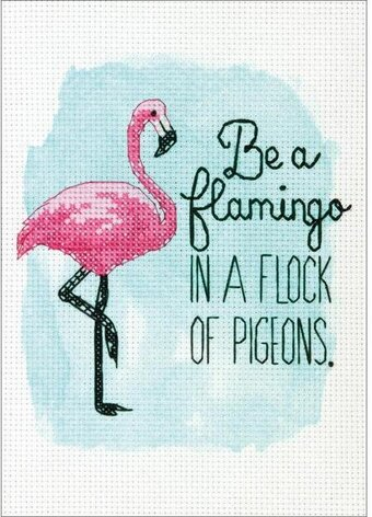 Be a Flamingo - Cross Stitch Kit