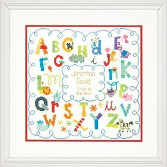 Dimensions Alphabet Birth Record Cross Stitch Kit 70