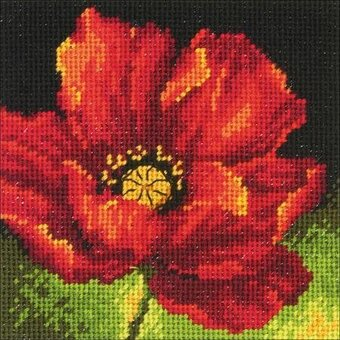 Red Poppy - Needlepoint Kit