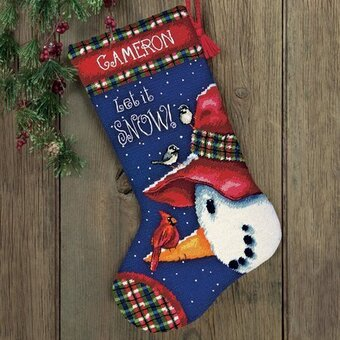 Snowman Perch Stocking - Needlepoint Kit