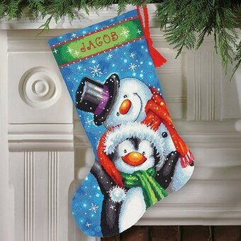 Polar Pals Christmas Stocking - Needlepoint Kit