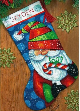 Sweet Santa Christmas Stocking - Needlepoint Kit