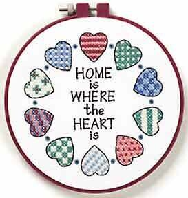 Home and Heart - Beginner Stamped Cross Stitch Kit