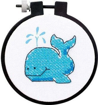 The Whale Learn-A-Craft - Beginner Cross Stitch Kit