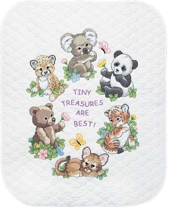 Dimensions Cute Or What Baby Quilt Stamped Cross Stitch