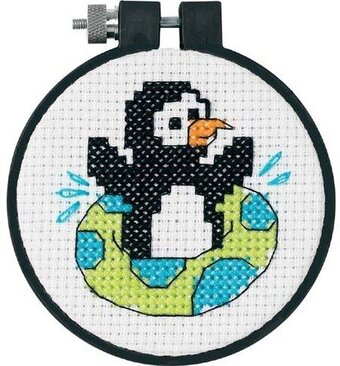 Playful Penguin Learn-A-Craft - Beginner Cross Stitch Kit