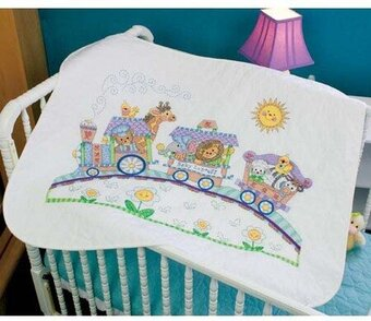 Baby Express Quilt - Stamped Cross Stitch Kit