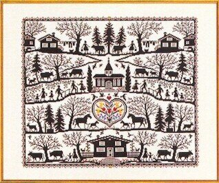 Country Farm Sampler - Cross Stitch Kit